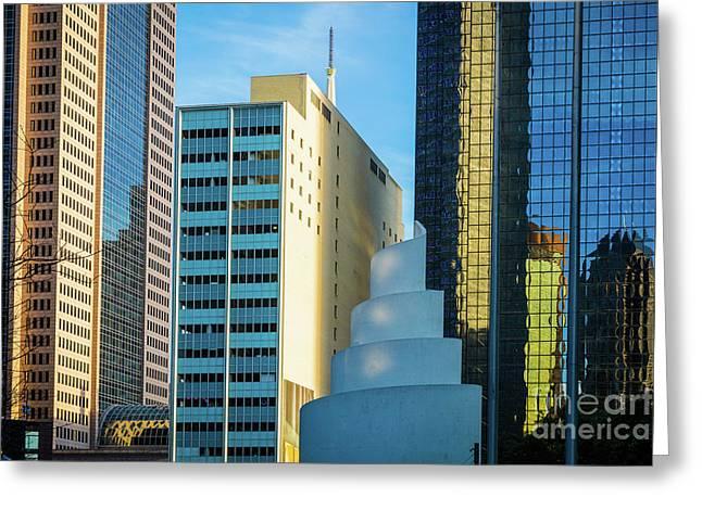 Urban Dallas Greeting Card by Inge Johnsson