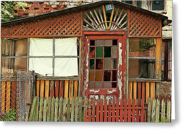 Urban Decay Or Not Greeting Card by Elaine Plesser
