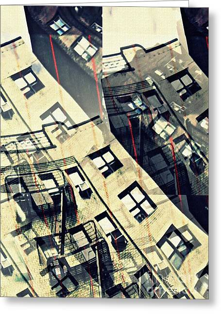 Urban Distress Greeting Card by Sarah Loft