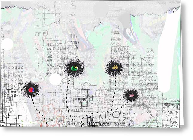 Urban Garden 2 Greeting Card by Andy  Mercer