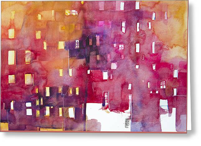 Urban Landscape 3 Greeting Card by Alessandro Andreuccetti