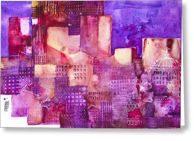 Urban Landscape 4 Greeting Card by Alessandro Andreuccetti