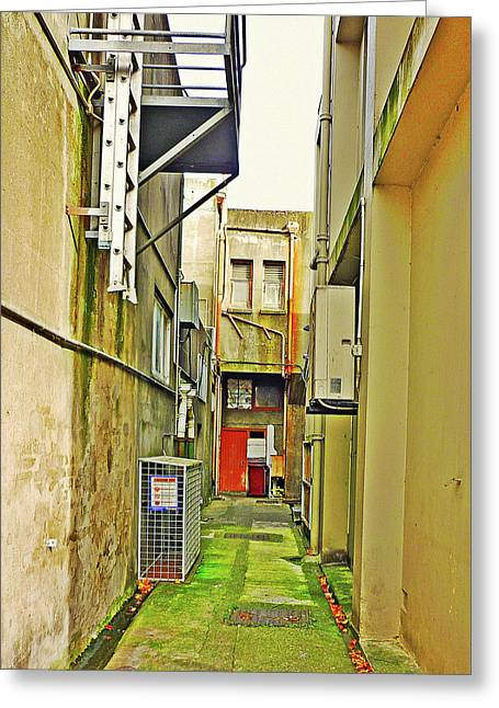 Urban Landscape-blind Alley Greeting Card by Kenneth William Caleno