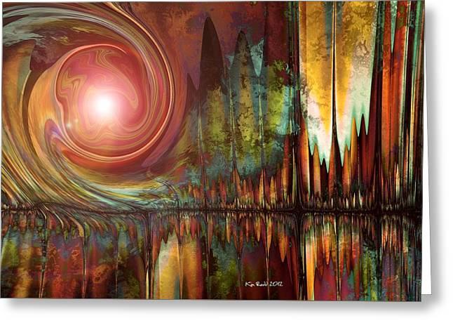Greeting Card featuring the digital art Urban Legend by Kim Redd