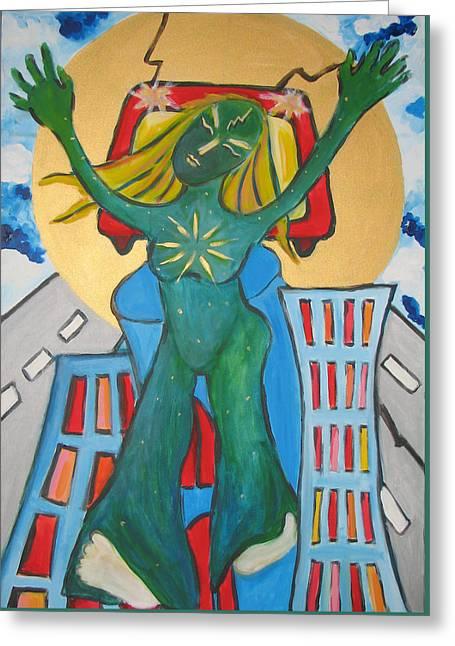 Urban Legends Ny Greeting Card by Krisztina Asztalos