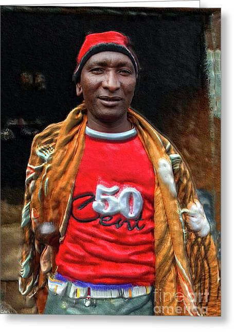 Maasai Urban Moran Greeting Card