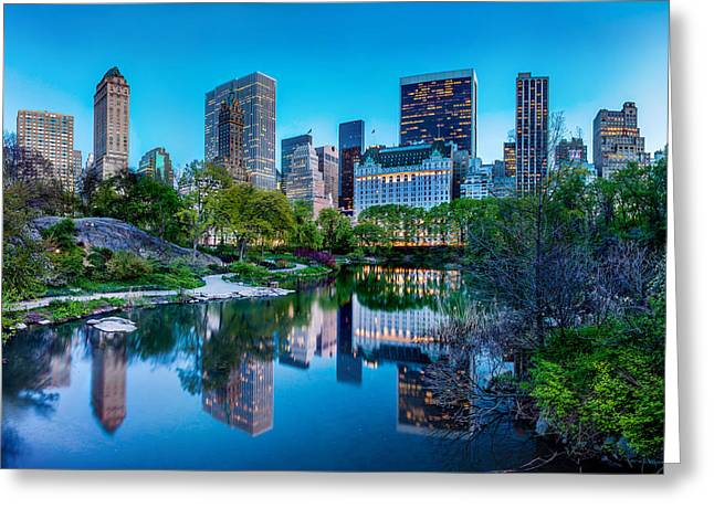 Famous Photographer Greeting Cards - Urban Oasis Greeting Card by Az Jackson