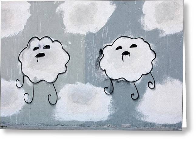 Greeting Card featuring the photograph Urban Rain Clouds by Art Block Collections