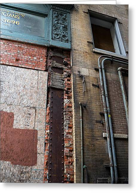 Urban Reconstruction Greeting Card by Denise McKay