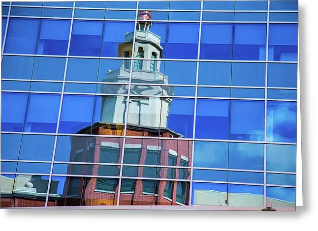 Urban Reflection Greeting Card by Karol Livote