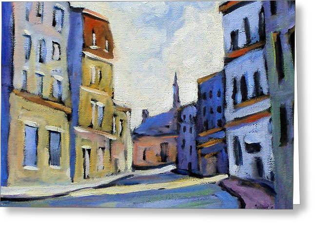 Urban Streets Greeting Card by Richard T Pranke
