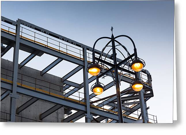 Urban Structures Greeting Card by Paul Indigo