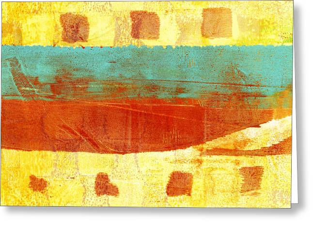 Urban Sunset Number 1 Of 4 Greeting Card by Carol Leigh