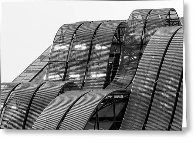 Greeting Card featuring the photograph Urban Waves by Rand