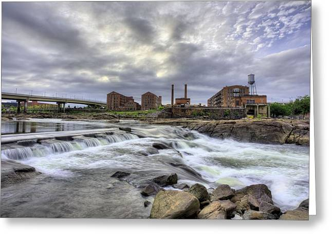 Urban White Water  Greeting Card by JC Findley