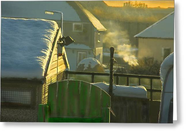 Valuable Greeting Cards - Urban winter landscape UK Greeting Card by Aleck Rich Seddon