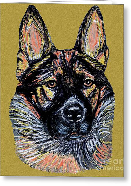 Greeting Card featuring the painting Urlike Gsd by Ania M Milo