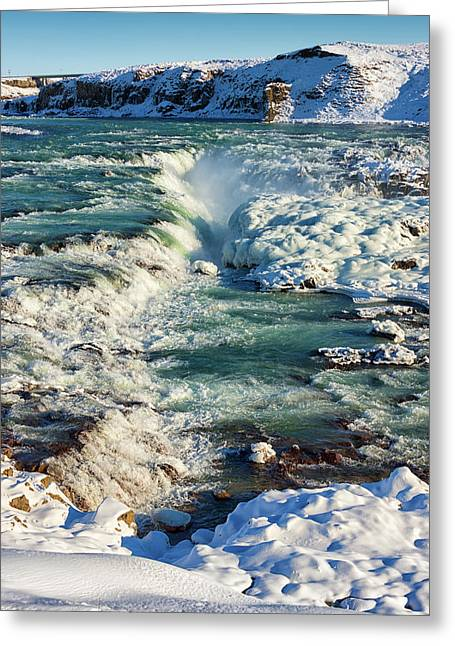 Greeting Card featuring the photograph Urridafoss Waterfall Iceland by Matthias Hauser