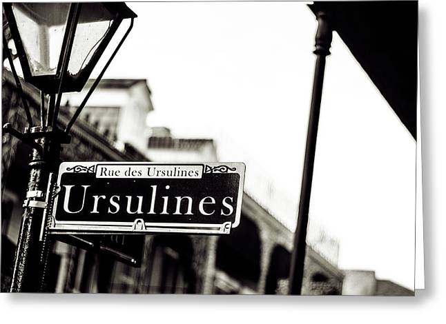 Ursulines In Monotone, New Orleans, Louisiana Greeting Card
