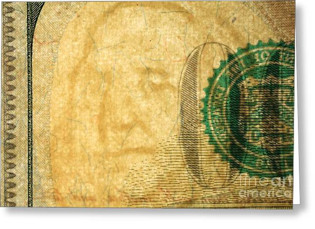 Us 100 Dollar Bill Security Features, 4 Greeting Card by Ted Kinsman
