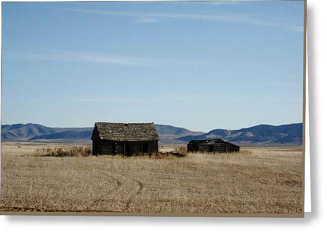 Us 30 Idaho Cabin Revisited Greeting Card by Robert Morrissey