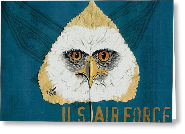 U.s. Air Force Eagle Greeting Card