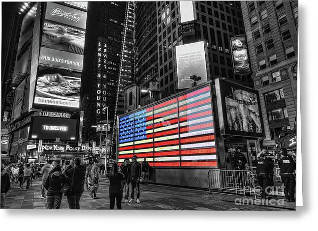 U.s. Armed Forces Times Square Recruiting Station Greeting Card
