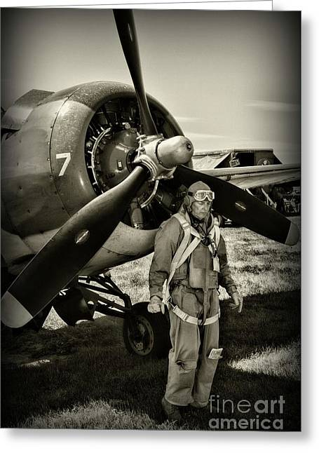 Us Army Air Force Pilot Greeting Card
