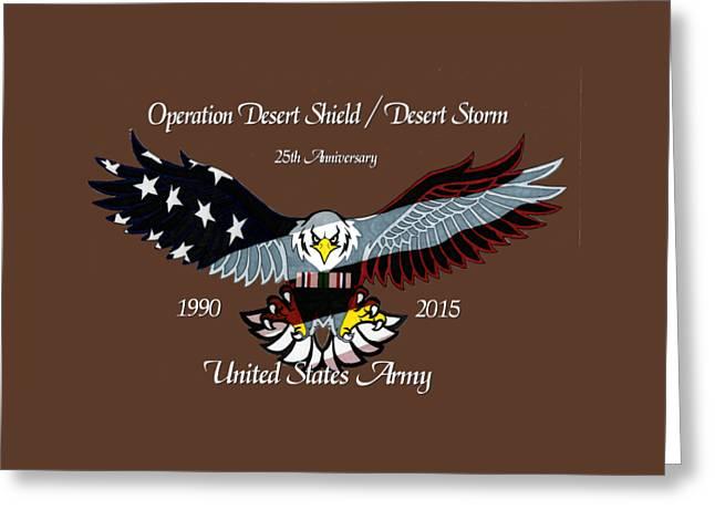 Us Army Desert Storm Greeting Card
