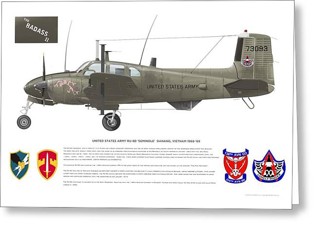 U.s. Army Ru-8d 138th Greeting Card