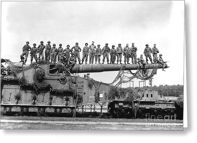 U.s. Army Soldiers Stand On Top Greeting Card