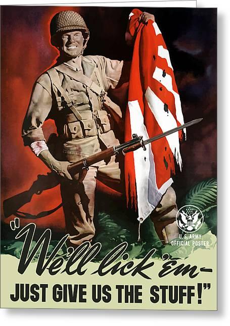 Us Army -- World War Two Propaganda Greeting Card