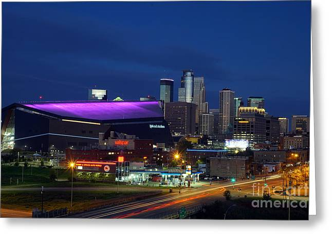 Greeting Card featuring the photograph Us Bank Stadium by Cj Mainor