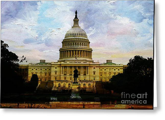 Capitol Building, Washington, D.c 007 Greeting Card