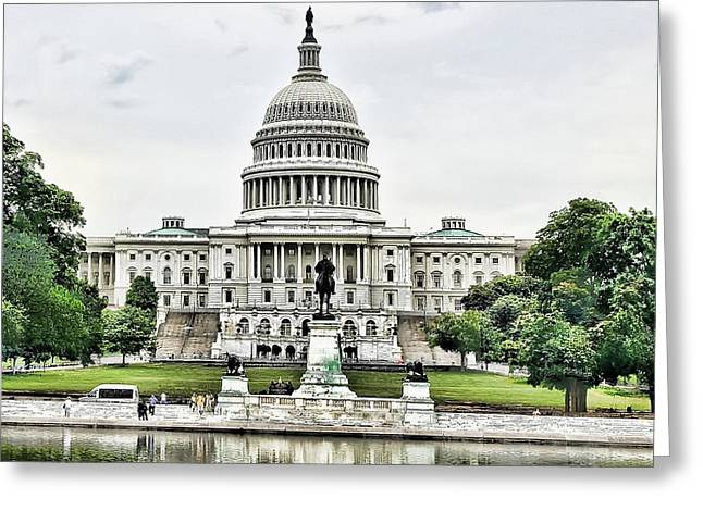 U.s. Capitol Building Greeting Card