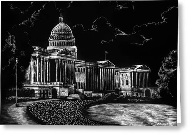 U.s. Capitol Greeting Card by Lindsey Jaeger