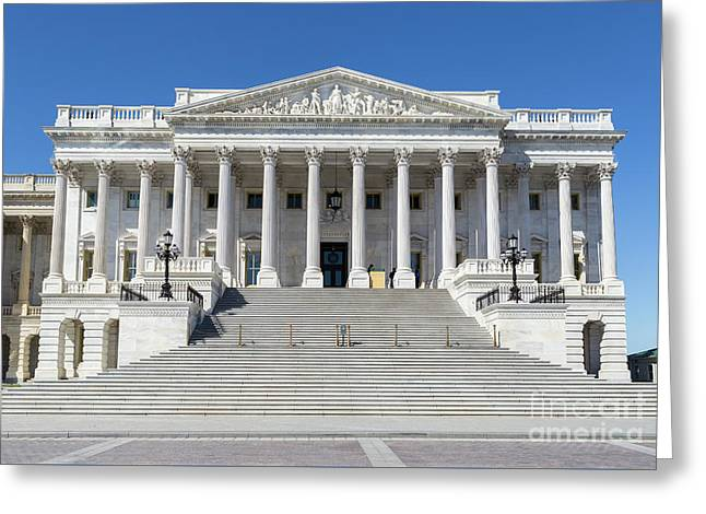 Us Capitol North Wing IIi Greeting Card