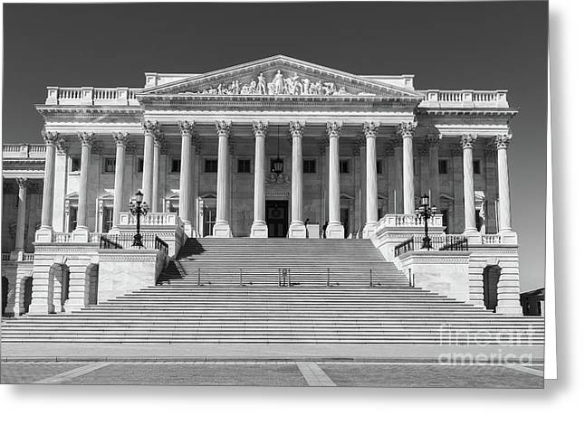 Us Capitol North Wing Iv Greeting Card by Clarence Holmes