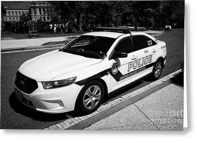 us capitol police car Washington DC USA Greeting Card