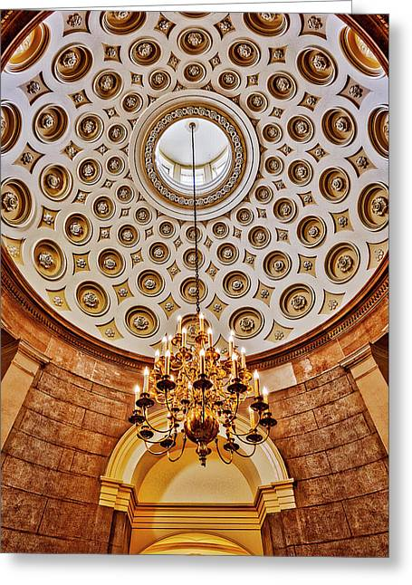 Greeting Card featuring the photograph Us Capitol Rotunda Washington Dc by Susan Candelario