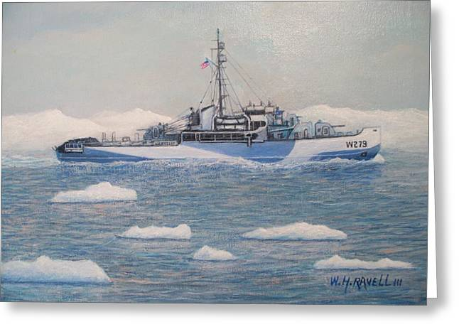 U.s. Coast Guard Cutter Eastwind Greeting Card by William H RaVell III