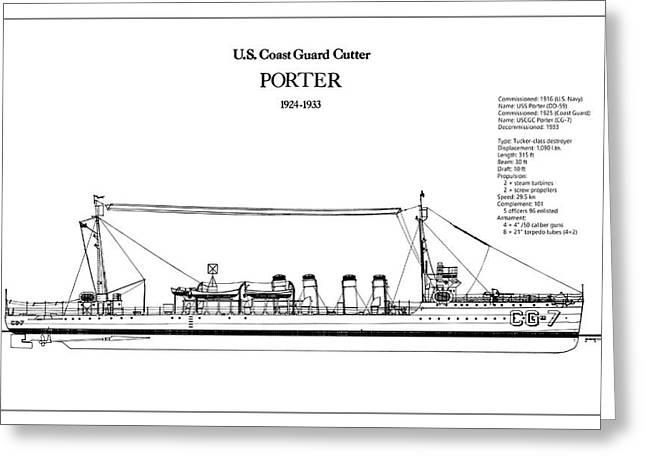 U.s. Coast Guard Cutter Porter Greeting Card