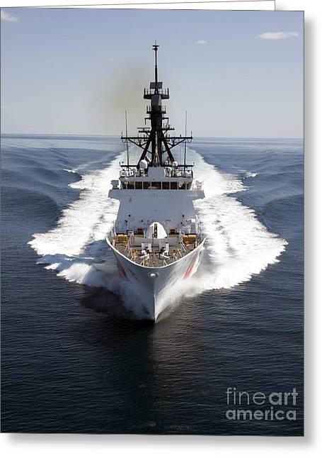 U.s. Coast Guard Cutter Waesche Greeting Card by Stocktrek Images