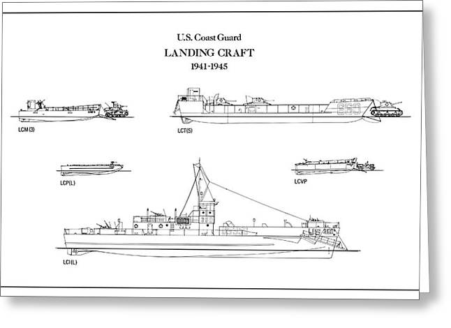 U.s. Coast Guard Landing Craft Greeting Card