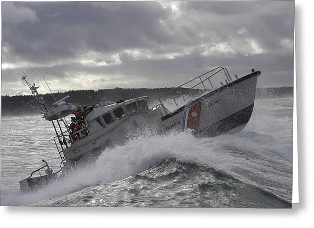 U.s. Coast Guard Motor Life Boat Brakes Greeting Card by Stocktrek Images