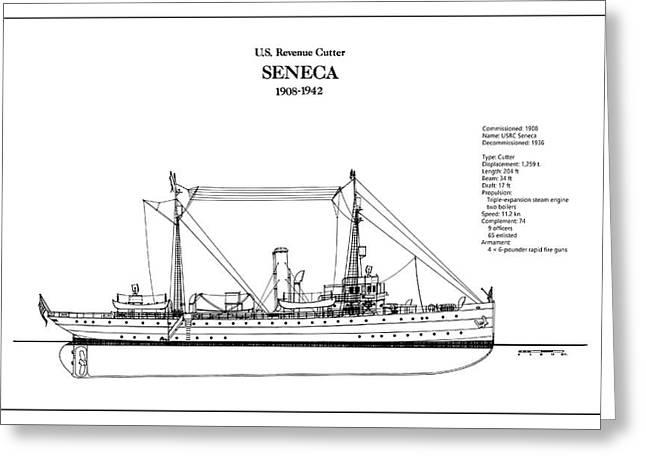 U.s. Coast Guard Revenue Cutter Seneca Greeting Card