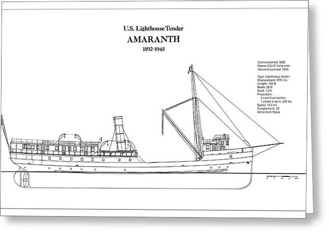 U.s. Coast Guard Tender Amaranth Greeting Card