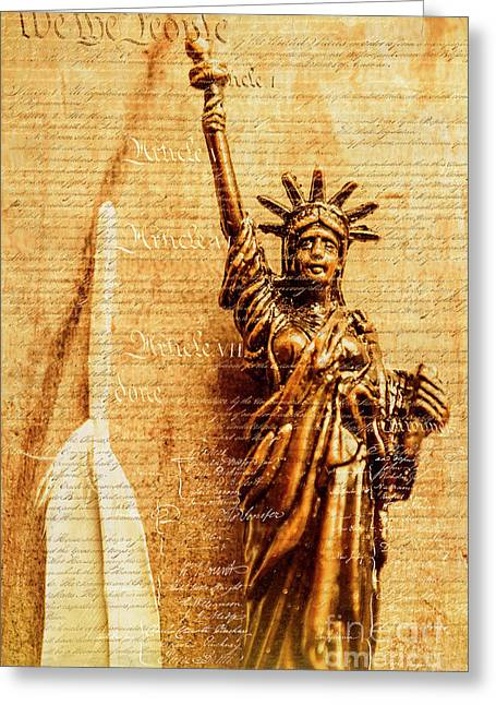 Us Constitution Greeting Card by Jorgo Photography - Wall Art Gallery