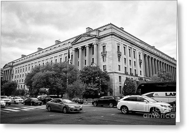 Us Department Of Justice Building 950 Pennsylvania Avenue Washington Dc Us Greeting Card