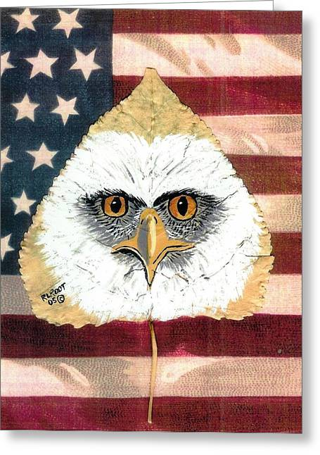 U.s. Flag Eagle Greeting Card